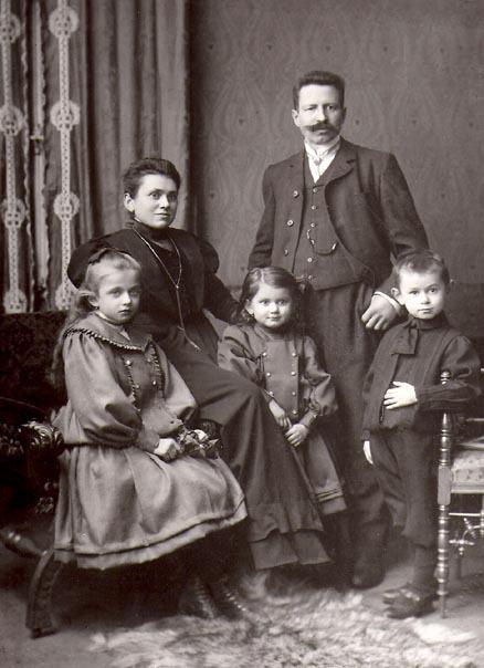 Karl Gollwitzer mit Familie