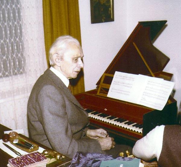 Wilhelm Gollwitzer am Cembalo