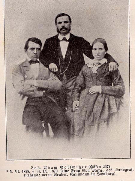 Adam Gollwitzer mit Frau und Schwager