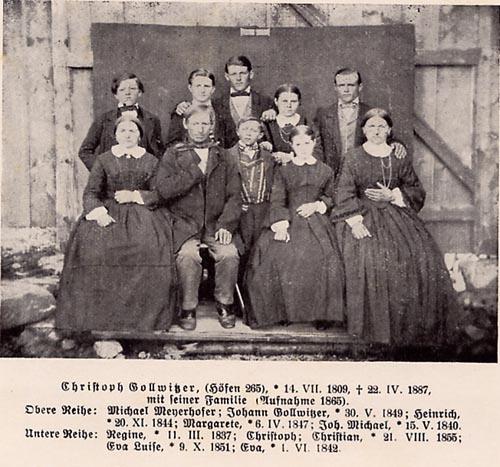 Georg Christoph Gollwitzer mit Familie