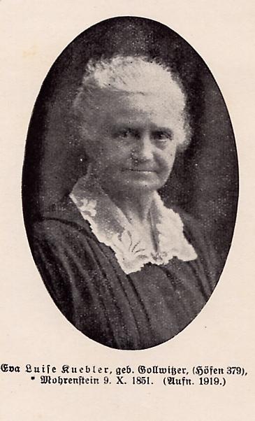 Luise Gollwitzer, verheiratete Kuebler